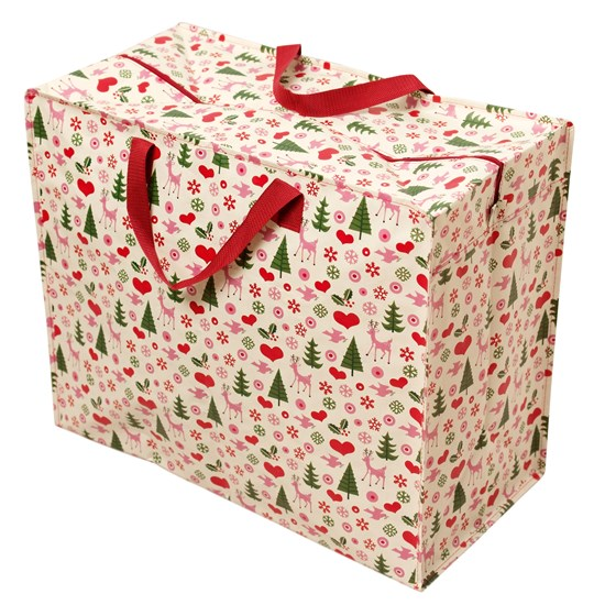 50'S CHRISTMAS DESIGN JUMBO STORAGE BAG