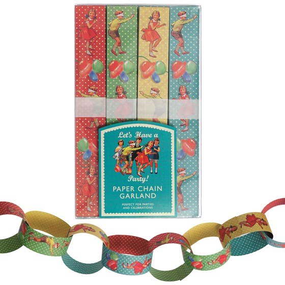 paper chain kit vintage party