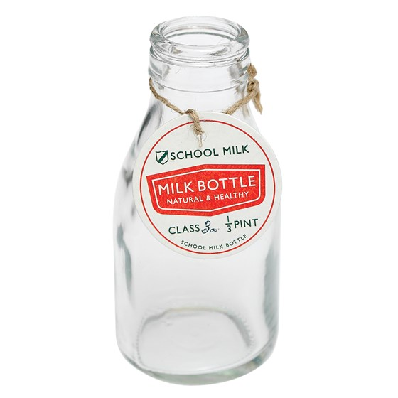 traditional school milk bottle