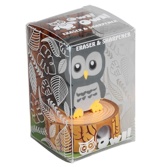 grey owl eraser pencil sharpener