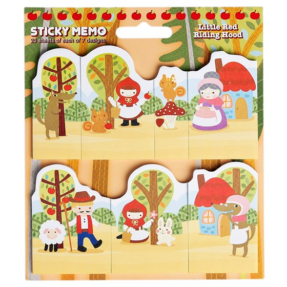 blocs-notes adhesifs le petit chaperon rouge