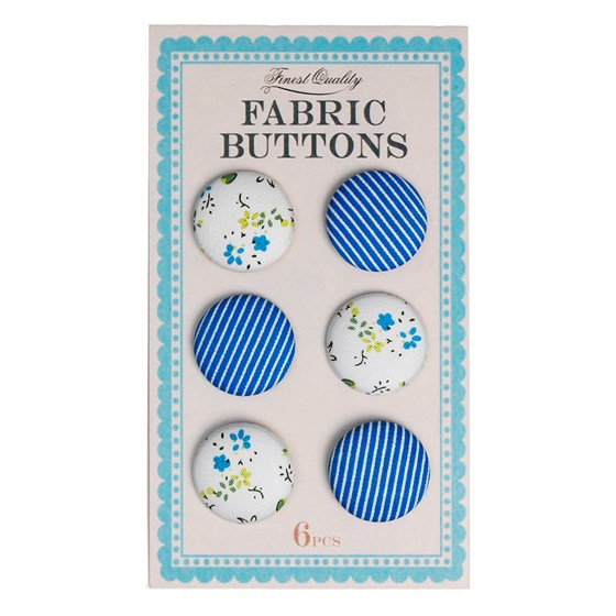 blue fabric buttons