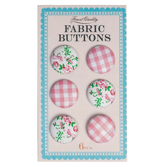 pink fabric buttons