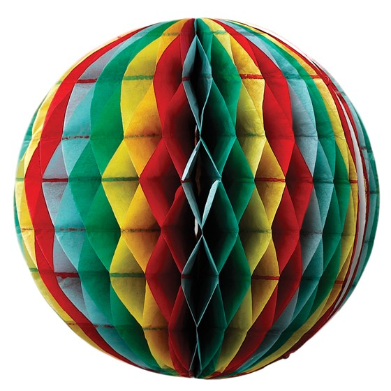 small multicolour honeycomb ball
