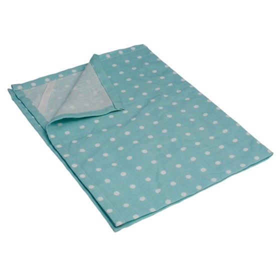 blue classic spot cotton tea towel