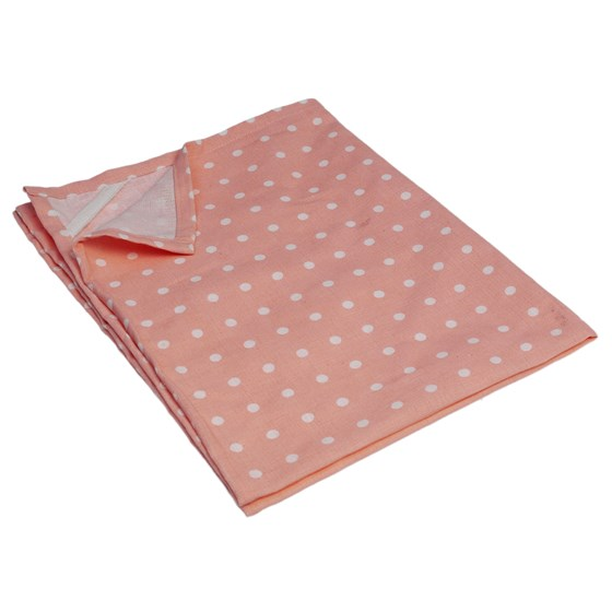 pink classic spot cotton tea towel