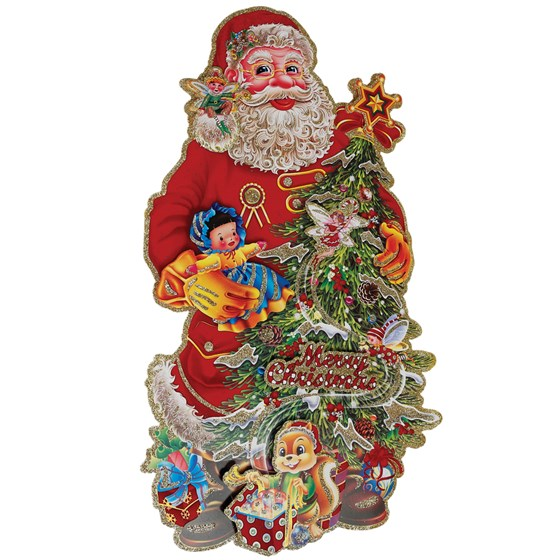 santa & tree christmas decoration
