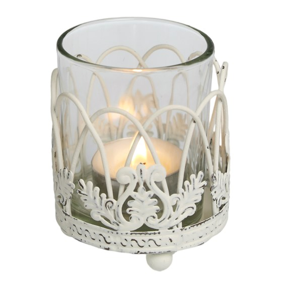 arched trellis tealight holder
