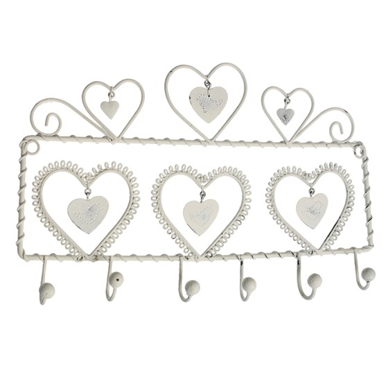 lovebirds 6 hook wall hanger