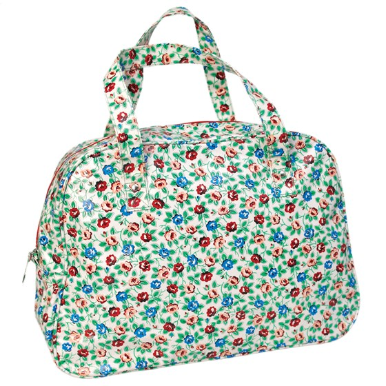 RAMBLING ROSE OILCLOTH WEEKEND BAG
