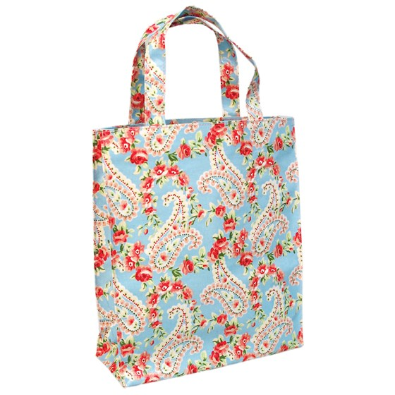 paisley park oilcloth shopping bag