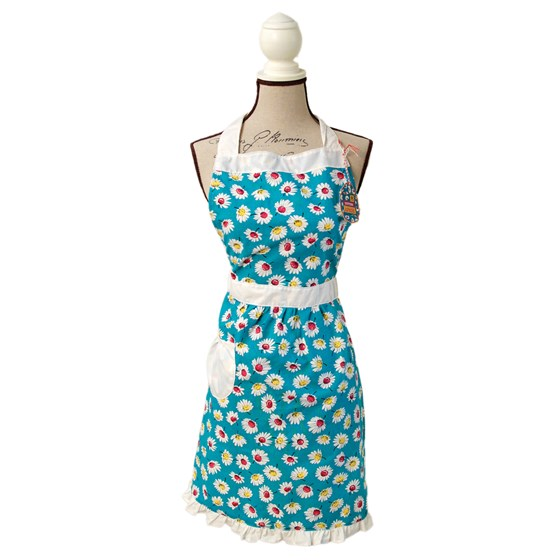 summer daisy cotton apron