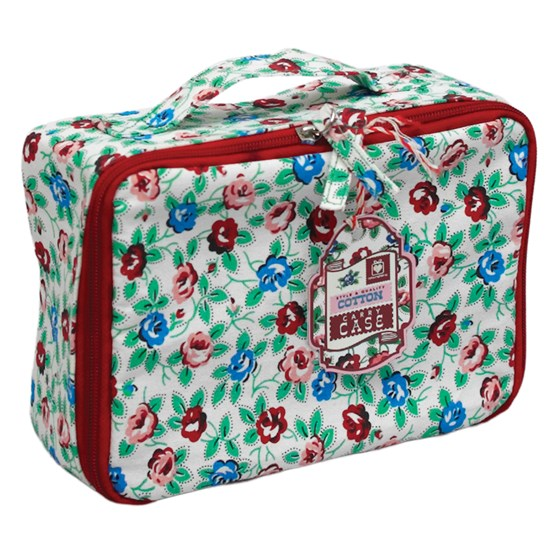 rambling rose cotton carry case