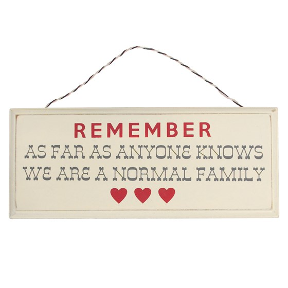 rustic wooden normal family sign