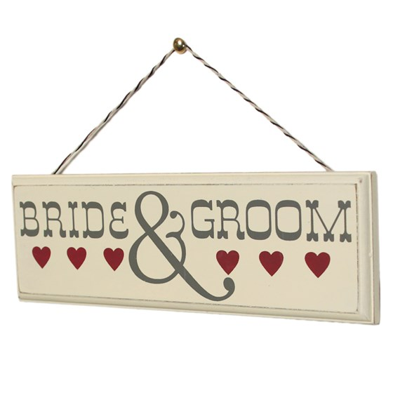 ROMANTIC WOODEN SIGN BRIDE & GROOM