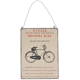 "vintage-metallschild ""bicycle safety"""