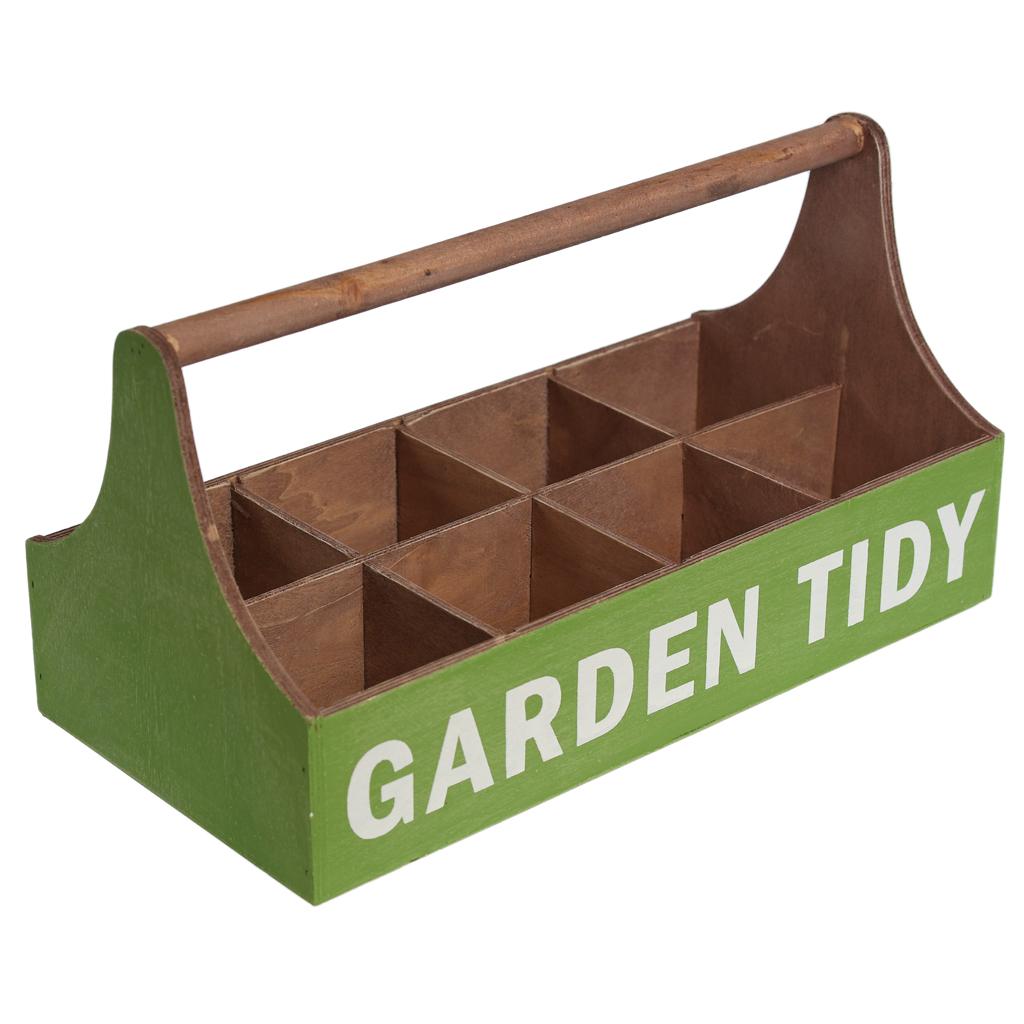Green Wooden Garden Tidy