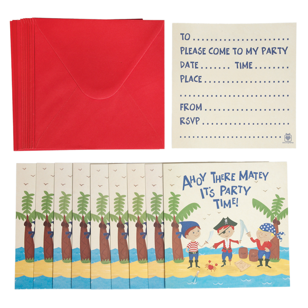 ... Set 10 Party Einladungen Mit Umschlag ...