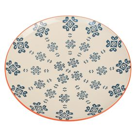 moorish plate medina blue tile
