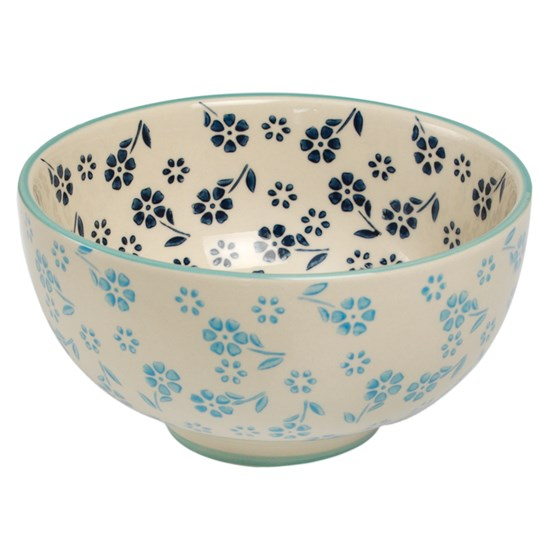 MOORISH SALAD BOWL BLUE JASMINE