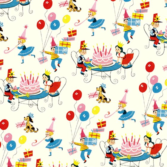 gift wrap vintage birthday design