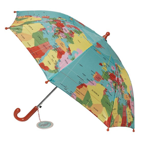 world map children's umbrella