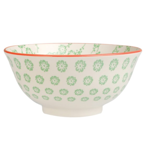 large japanese bowl green blossom