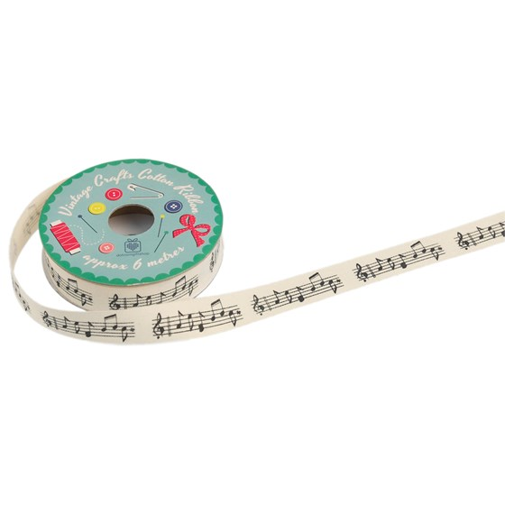 vintage crafts ribbon musical notes