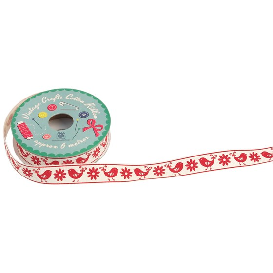 vintage crafts ribbon bird and flower