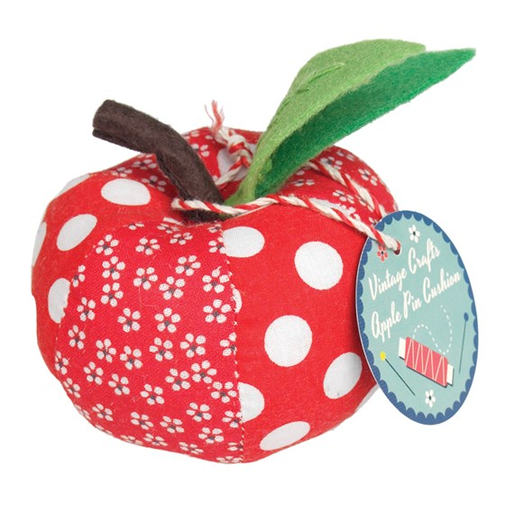 VINTAGE CRAFT RED APPLE PIN CUSHION