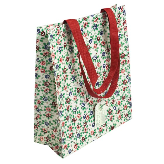 rambling rose design shopping bag