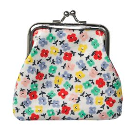 colourful daisies oilcloth coin purse