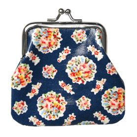 blue bouquet oilcloth coin purse