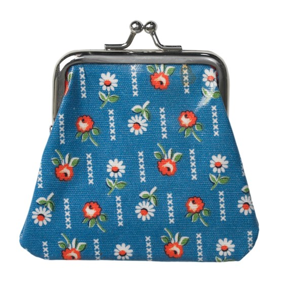 FRENCH DAISY OILCLOTH COIN PURSE
