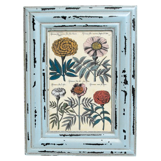 heritage rectangular powder blue picture frame
