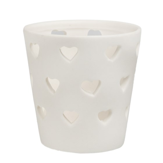 hearts ceramic tealight holder