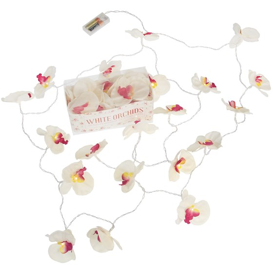 orchid garland led battery lights