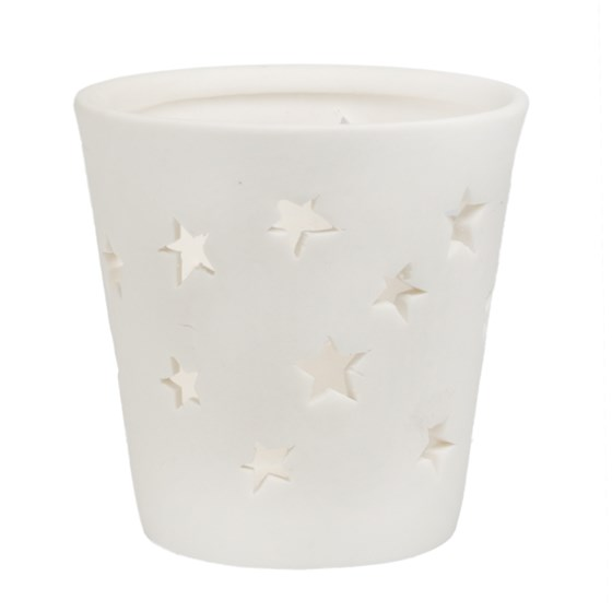 stars ceramic tealight holder