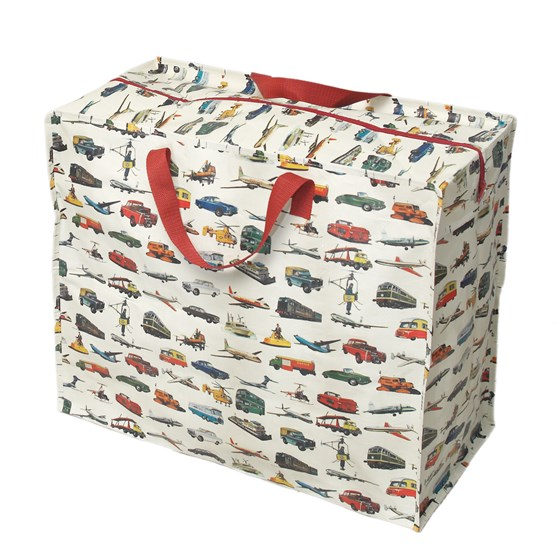 vintage transport design jumbo storage bag