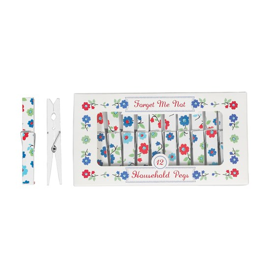 "lot de 12 pinces a linge ""forget me not"""