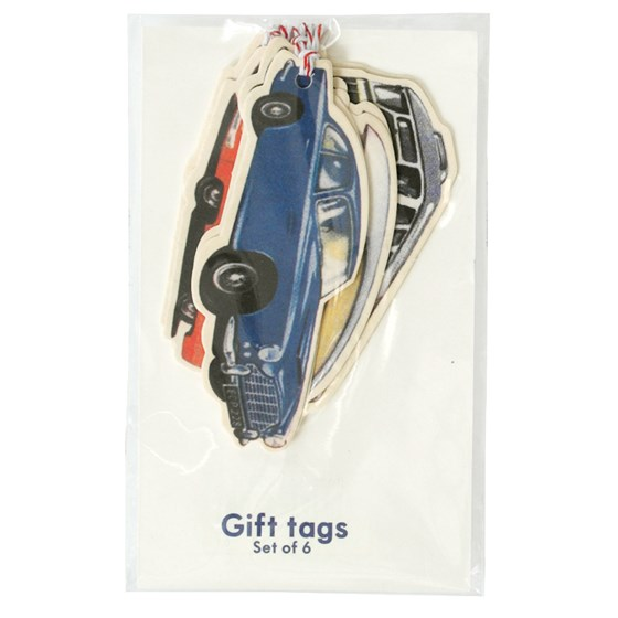SET OF 6 VINTAGE TRANSPORT GIFT TAGS