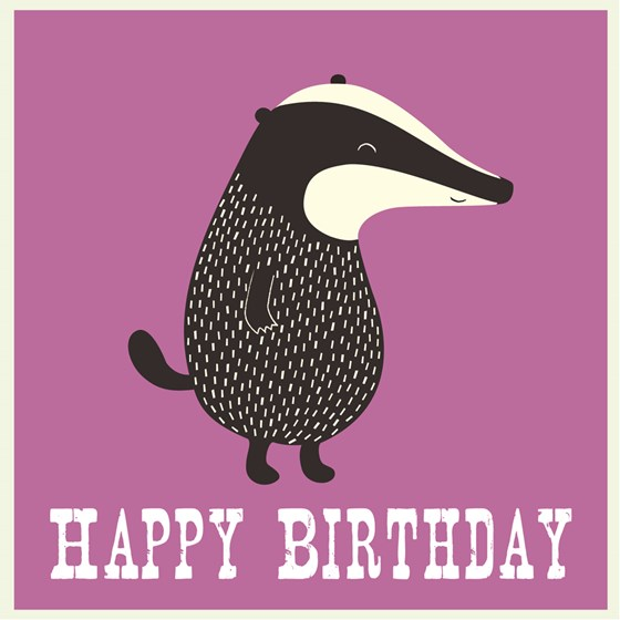"carte anniversaire ""mr badger"""