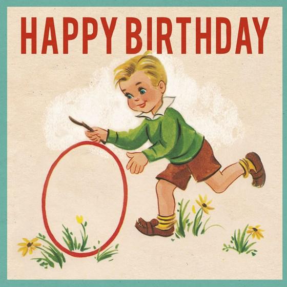 Vintage Boy Birthday Card Wholesale Trade Rex London