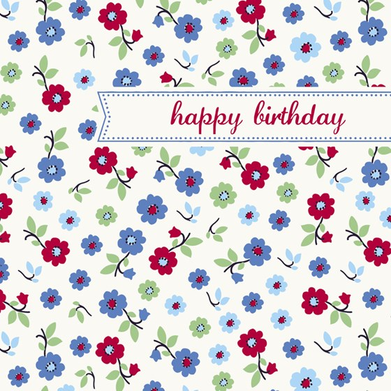 forget me not birthday card