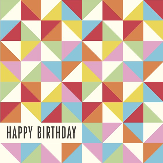 "carte anniversaire ""multicolour geometric"""