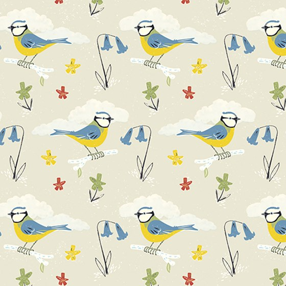 bird wrapping paper