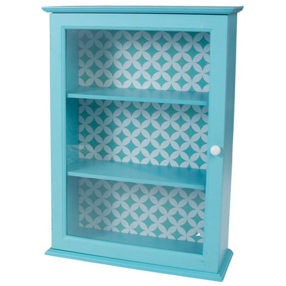 fifties blue display cabinet