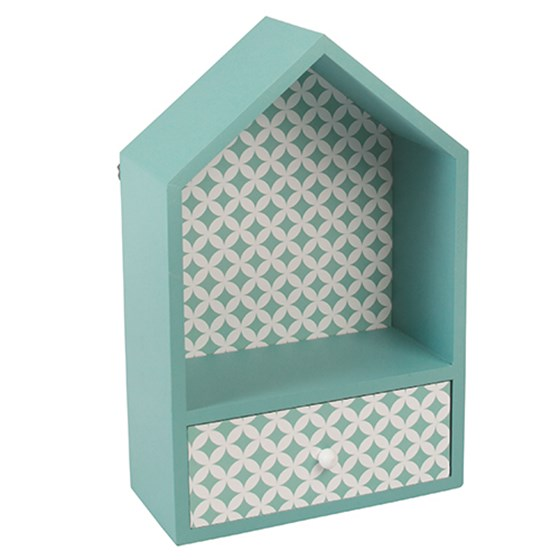 blue house box with drawer