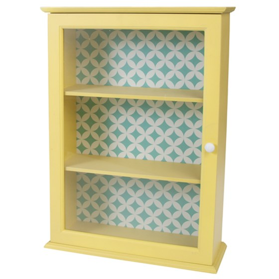 fifties yellow display cabinet