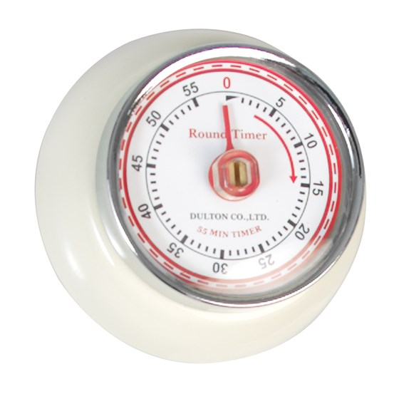 VINTAGE MAGNETIC KITCHEN TIMER IVORY